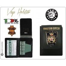 Portafoglio Portadocumenti con Placca  Ministero Difesa Croce Rossa Militare CRI Militare Vega Holster Italia Art.1WD52