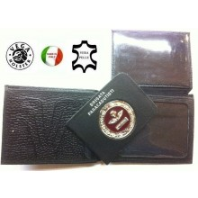 Portafoglio Portadocumenti con Placca Estraibile Brigata Paracadutisti  Folgore Logo Brevetto Vega Holster Italia Art.1WG93