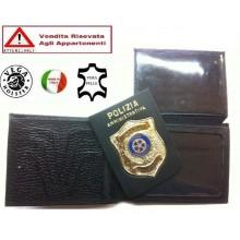 Portafoglio Portadocumenti con Placca Estraibile Polizia Amministrativa VENDITA RISERVATA  Vega Holster Italia Art.1WG108