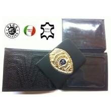 Portafoglio Portadocumenti con Placca Estraibile Sicurezza Vigilanza Privata Vega Holster Italia Art.1WG48