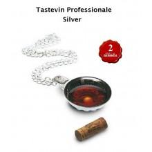 Testevin Professionale Silver Per Assaggio Vino Sommelier Art.TASTEVIN
