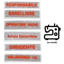 Patch Da Tuta Operativa Striscia Catarifrangente  per 118 e Croce Rossa Italiana 11x2.50 Art.NSD-118-CRI