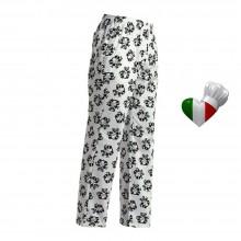 Pantalone Pantaloni Pants Hose Coulisse Cuoco Chef Professionale Ego Chef Italia Wild Panda Art. 3502105A