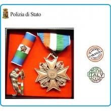 Set Medaglie Anzianità di Servizio Polizia di Stato Bronzo  Art.FAV-SET14
