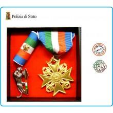 Set Medaglie Anzianità di Servizio Polizia di Stato Oro Art.FAV-SET13