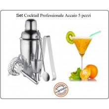 Set Cocktail Accaio Professionale Cilio 5 Art.202212