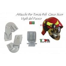 Agganci Attacchi Torcia Peli Per Elmo Vigili Del Fuoco Originali Sicor  VFR 2000   VFR 2009-PRO Art.5490001222