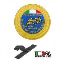 Patch Toppa Ricamata con Velcro Polizia di Stato Istruttore Difesa Personale cm 9.00 Art. EU707