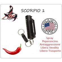 Spray Anti Aggressione Antiaggressione Portachiavi Scorpio 1 Difesa Personale Libera Vendita Maximum Streength Pepper Spray Mad Max  Art.MM-SCORPIO