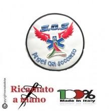 Patch Canottiglia Ricamata a Mano Angeli del Soccorso 118 + Protezione Civile SOS Art.NSD-ANGELI