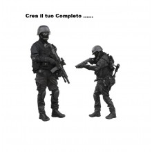 Crea il Completo Corpi Speciali  SWAT NOCS GIGN  GSG9 GPG IPS Guardie Giurate Personalizzalo ..... Art. SWAT-1