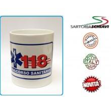 Tazza in Ceramica Mug 118 Soccorso Sanitario  Art.TAZ-118S