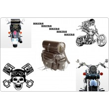 Borsa Posteriore da Schienalino + Bauletto Modello Bike Pak Cheyenne per Moto Custom Harley Davidson Guzzi ecc Art.1111