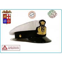 Berretto Tesa Ordinanza Marina Militare Italiana con Fregio FAV Autore VENDITA RISERVATA Art.BER-MM-U