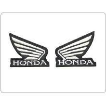 Coppia Destra Sinistra Toppa Patch Ricamata Termoadesiva Honda Bianco Art.TOP-H2