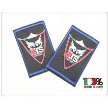 Tubolari Ricamati Bordo Azzurro TOP SECRET VIGILANZA® PRODOTTO RISERVATO ALLA TOP INGROSSO 10 coppie Art.TOP-SECRET-TUB
