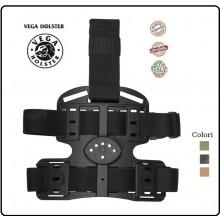 Piattaforma Cosciale Multi Uso in Polimero Stampato a Iniezione Vega Holster Italia Art.8K16 - 8K18