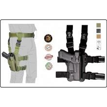 Fondina per Pistola Cosciale in Speciale Polimero Vega Holster Italia  GIS NOX Militari Vigilanza Polizia Art.VKL8