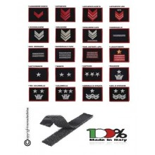 Gradi Ricamati Tuta Ordine Pubblico cm 5x7 o Polo cm 3.5x5 Carabinieri CC con Velcro Scegli il tuo Grado..  Art.CC-O1