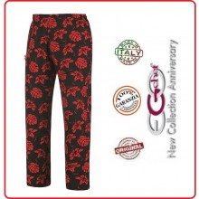 Pantalone Pants Hose Coulisse Cuoco Chef Professionale Ego Chef Italia Ibiscus Art.3502140A