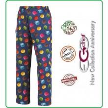 Pantalone Pants Hose Culisse Cuoco Chef Professionale Ego Chef Italia Ice Cream  Art.3502141A