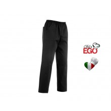 Pantalone Pantaloni Coulisse Tasche Toppa Unisex Neri Dark Ego Chef Italia Art. 3502002c