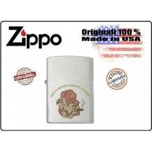 Accendino Zippo® Originale Serie Militare Marine Bulldog ONCE A MARINE ALWAYS A MARINE Art.421115-3305