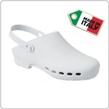Zoccolo Ciabatta Autoclavabile Bianco Isacco Prodotto Italiano Infermieri Unisex Art.112600