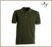 Polo Manica Corta  Verde Militare Modello Italia Tricolore Neutra Aosta Army Green Art.988446